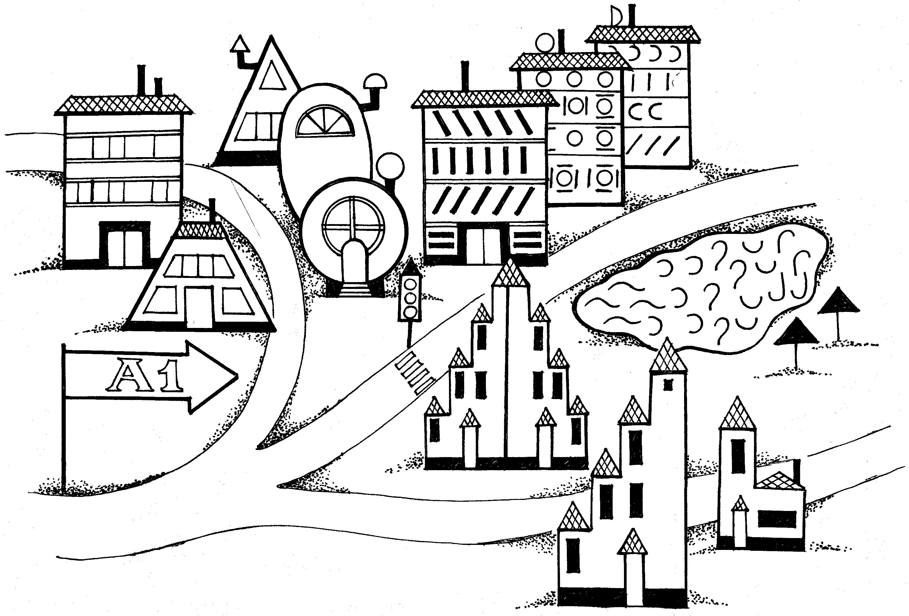 статье город прямоугольников картинки преувеличения